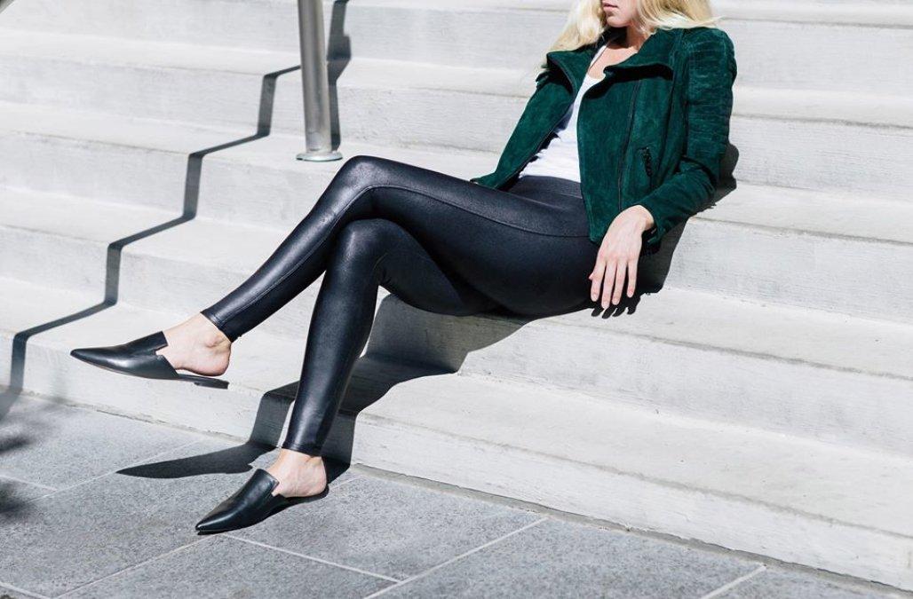 Spanx-Kunstleder-Leggings werden aus einem bestimmten Grund viral